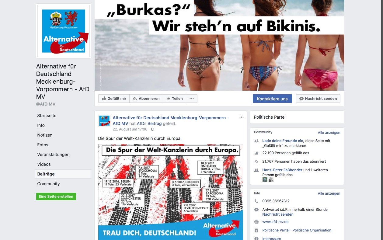 AfD mit aggressiver Kampagne bei Facebook