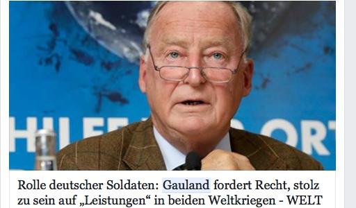 Gauland stolz auf Wehrmacht