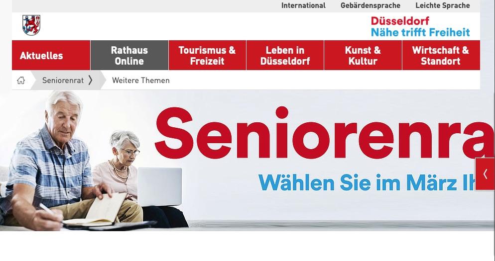 Seniorenratswahl steht in Düsseldorf an