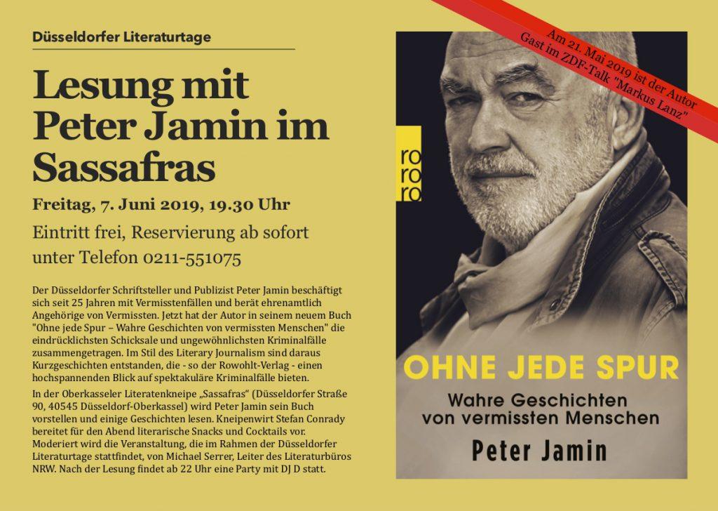 """Lesung mit wahren Geschichten aus dem Buch """"Ohne jede Spur"""" von Peter Jamin"""