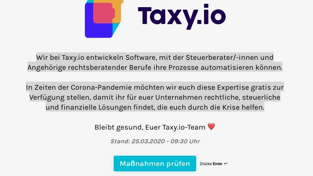 Taxy bietet schnelle Unterstützung bei finanziellen Problemen