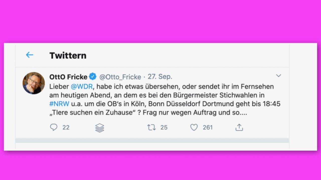 Das WDR Fernsehen hat gepennt