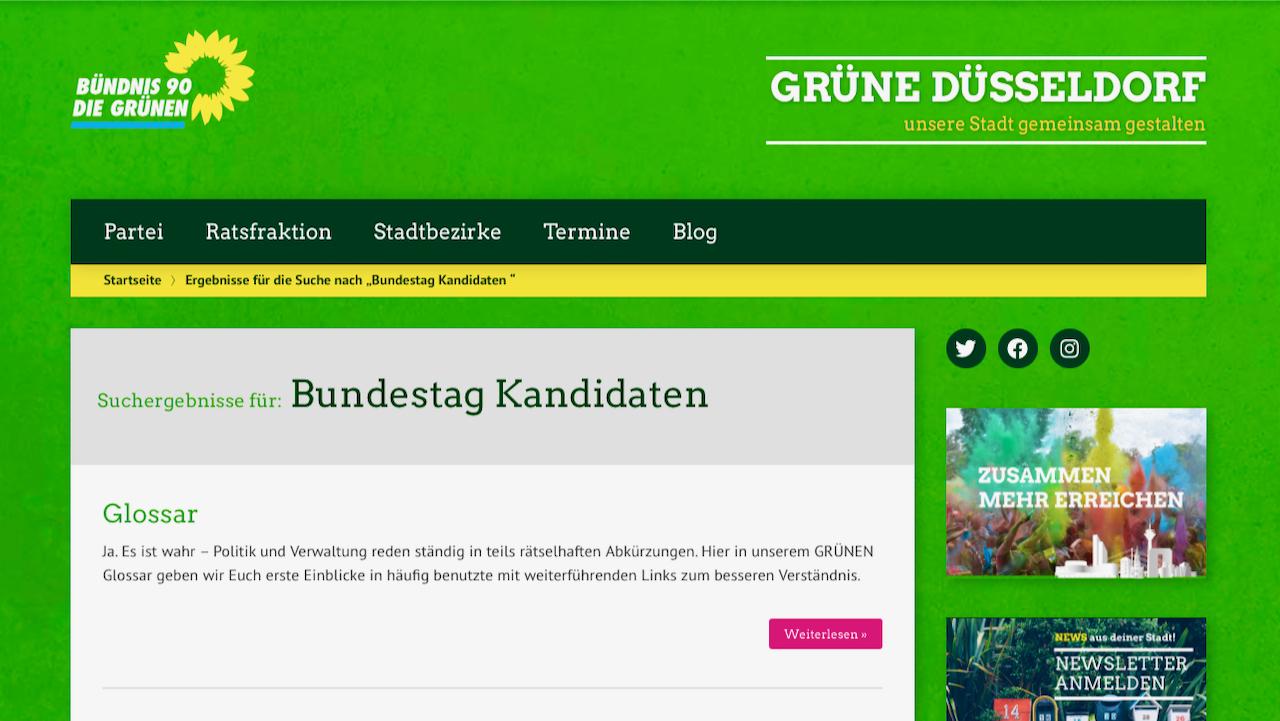 Wenig Politik-Glamour der Kandidat*innen der Grünen