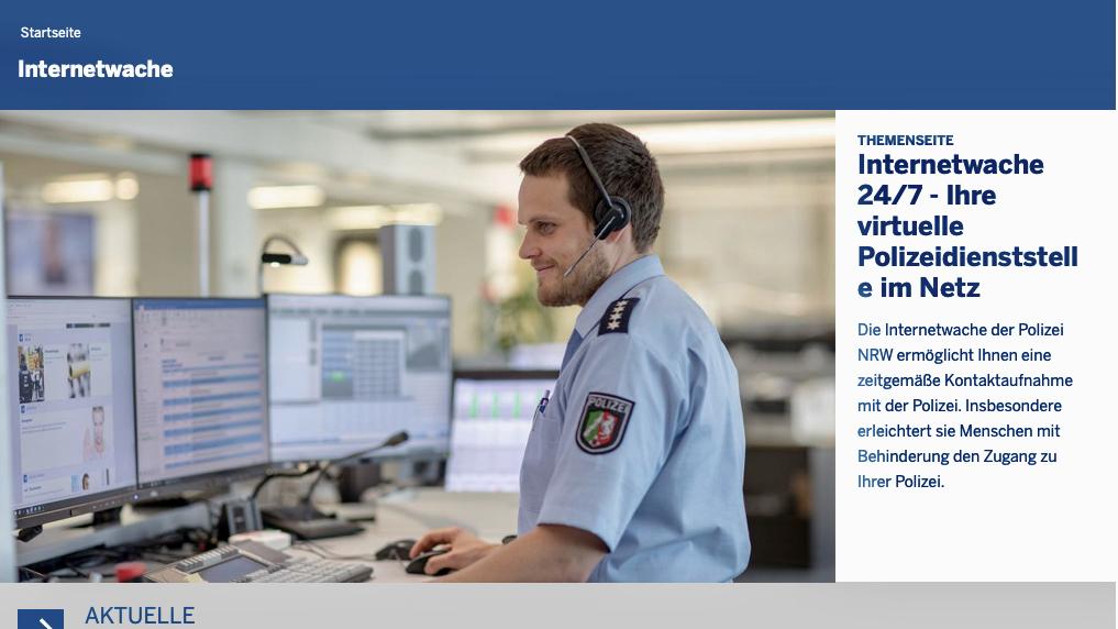 Internetwache der Polizei