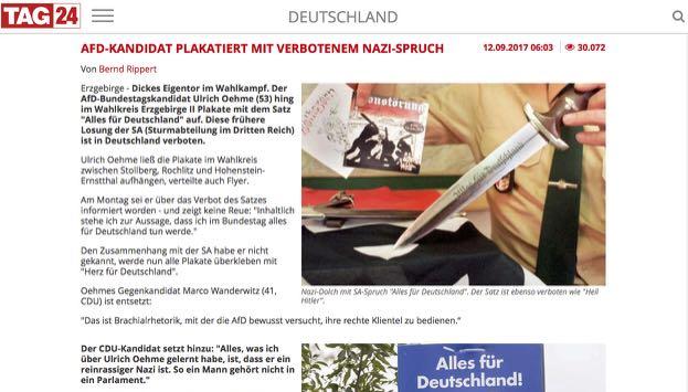 Wahlwerbung der AfD