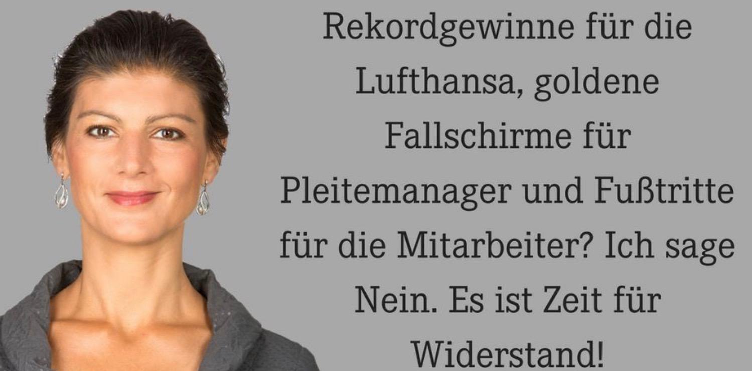 Wagenknecht gegen AirBerlin Millionär