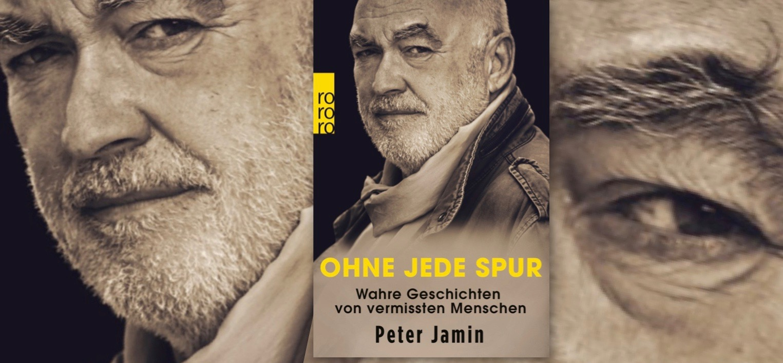 Reklame fürs Buch Ohne Jeder Spur iin Berliner Buchhandlung