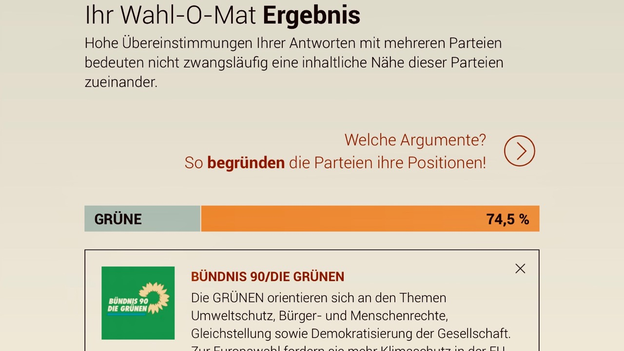 Europa-Wahl a la Wahl-O-Mat