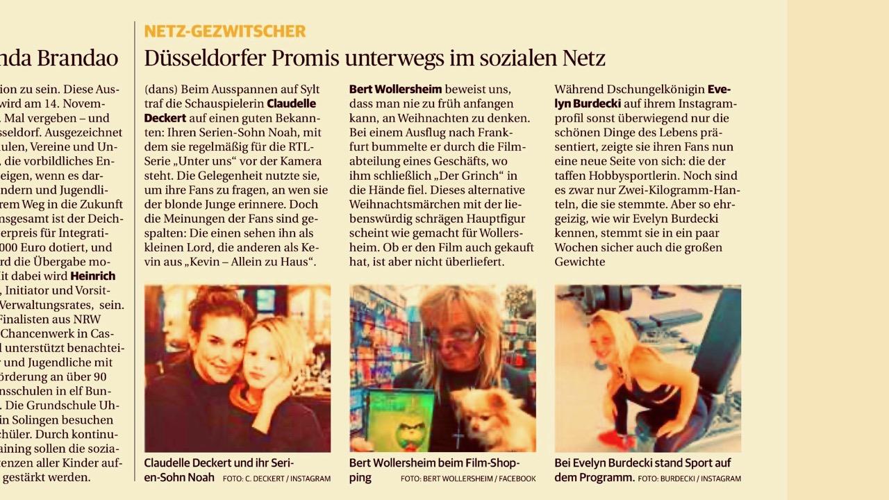Screenshot der Rheinischen Post