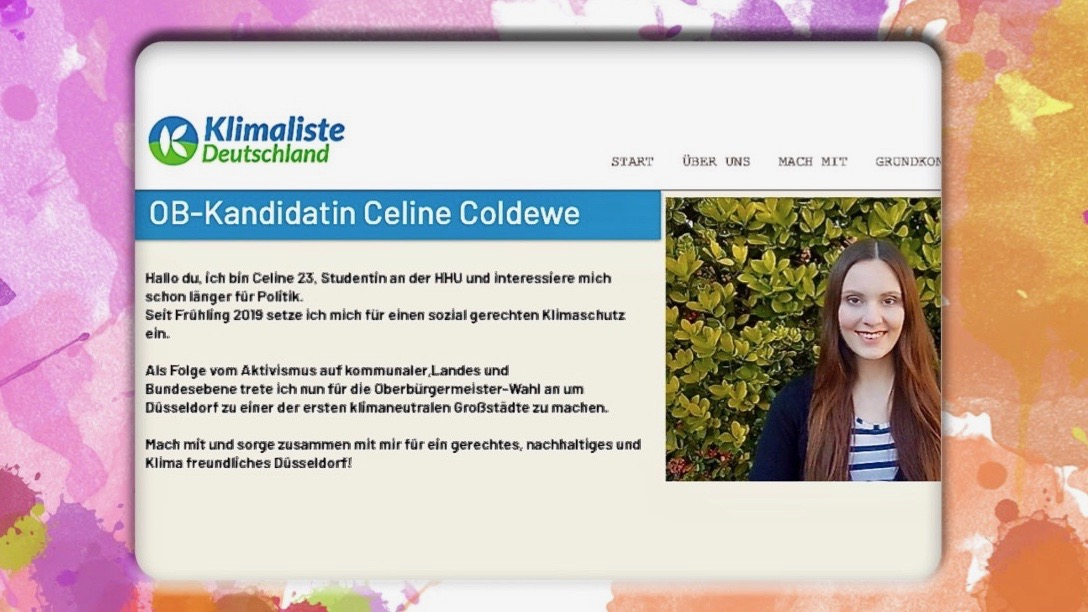 Die Website der Klimaliste